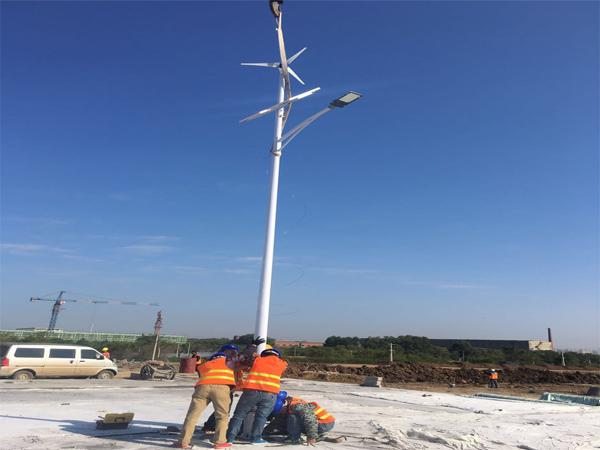 太阳能风光互补施工案例