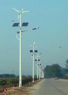 60W风光互补太阳能路灯